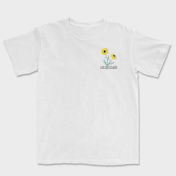Wild Flower Embroidered Tee // White