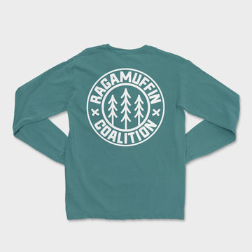 Logo Badge Long Sleeve Tee // Spruce