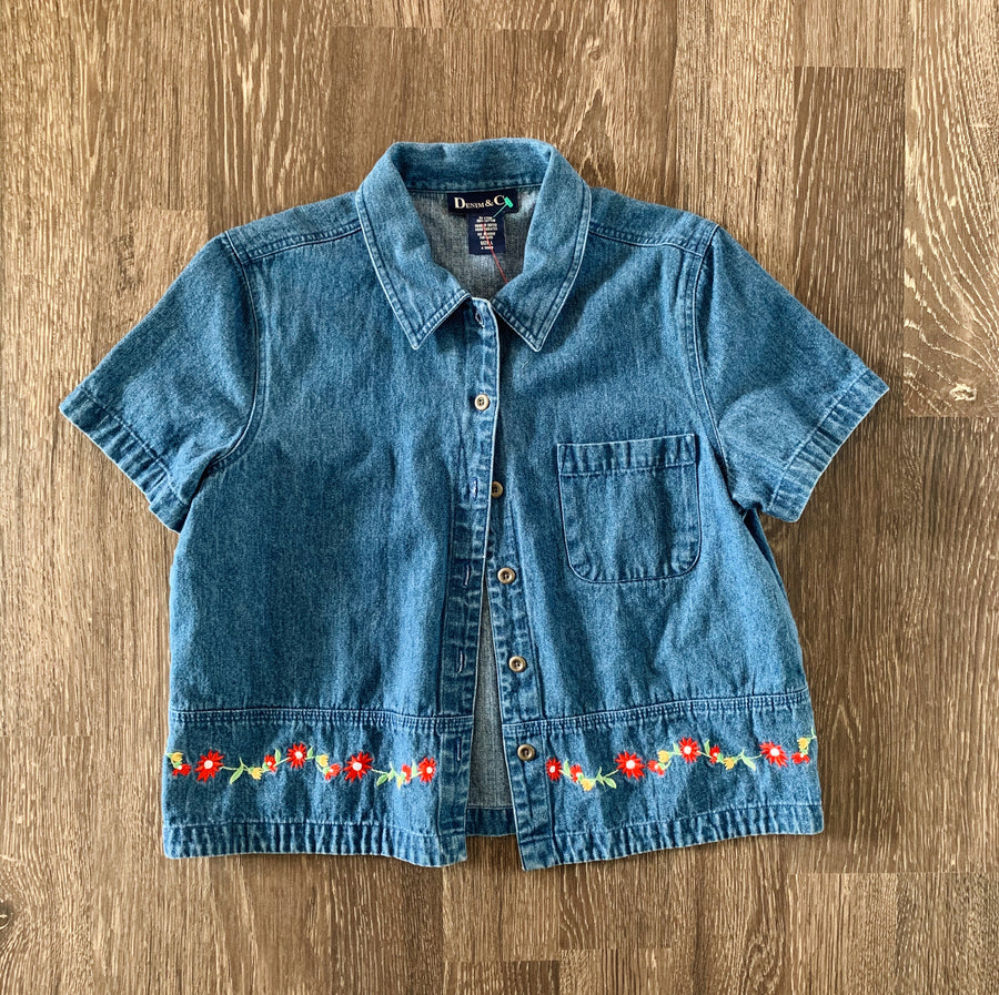 Vintage Women's Denim & Co Button-Up