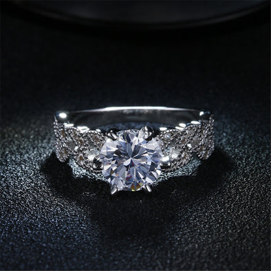 New Beautiful 1.5 Carat Zircon Wedding Ring - BC&ACI
