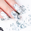New White and Black Gradient Marble Nail Decal - BC&ACI