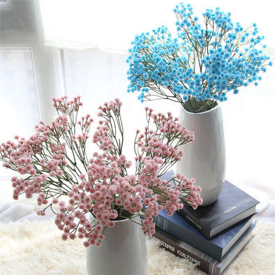 2018 Artificial Flowers Artificial Silk Fake Flowers Baby's Breath Floral Wedding Bouquet Party Decors