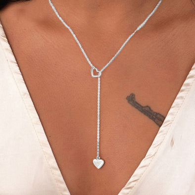 New Women's Stainless Steel Heart Pendant Chain - BC&ACI