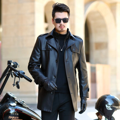 2019 NEW Leather Jacket Men Coats Youth lapel Brand High Quality