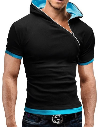 New Men's Zipper T Shirt - BC&ACI