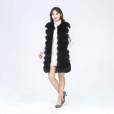 New Women's Side Zipper Fur Jacket - BC&ACI