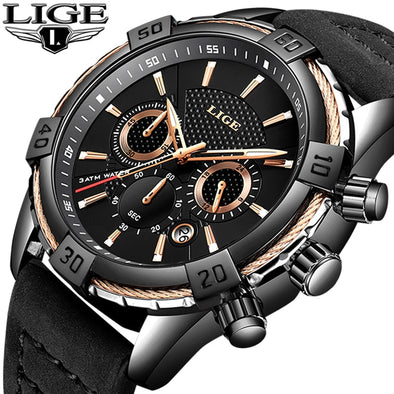 New Men's Luxury Leather Watch - BC&ACI