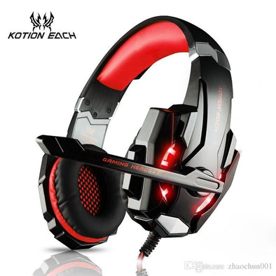 G9000 Gaming Headset Headphone 3.5mm Stereo Jack with Mic LED Light for PS4/Tablet/Laptop/Cell Phone