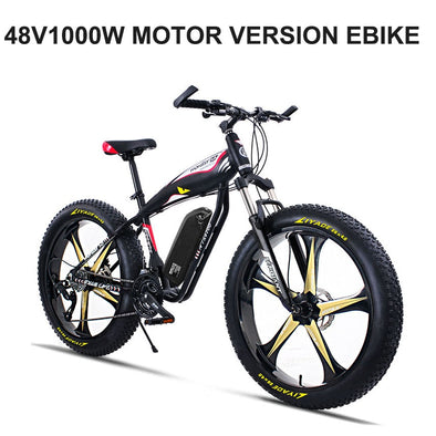 26 Electric snow mountain bike 4.0 tire fit snow tires Powerful high speed motor drive