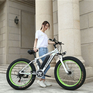 New 26 Inch Electric Mountain Bicycle with Snow Tires - BC&ACI