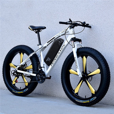 New 26 Inch 48 Volt Electric Mountain Bicycle with Lithium Battery - BC&ACI