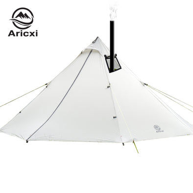 3-4 Person Ultralight Outdoor Camping Teepee 20D Silnylon Pyramid Tent Large - BC&ACI