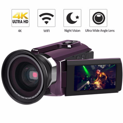 Sleek 4K Camcorder 16X ZOOM Digital Video Recorder Camera Ultra HD Wifi IR - BC&ACI