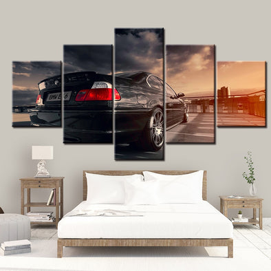 Sexy 5 Panel BMW E46 Sports Car Painting Home Decor For Living Room Picture Wall Art - BC&ACI