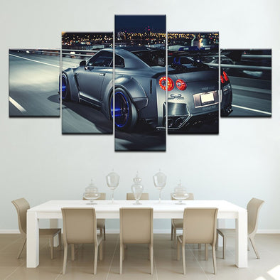 New 5 Pieces Nissan Skyline Gtr Poster Canvas HD Print Painting - BC&ACI