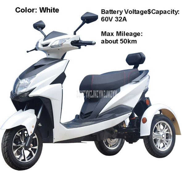 New 50km/75km Electric Tricycle Bicycle  Electric Vehicle Motorcycle - BC&ACI