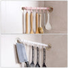 6 Even Row of Hooks Strong Adhesive Hook Kitchen Wall Hanging,