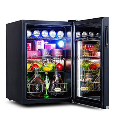 62L Cold Storage Refrigerator Wine Refrigerators transparent glass door