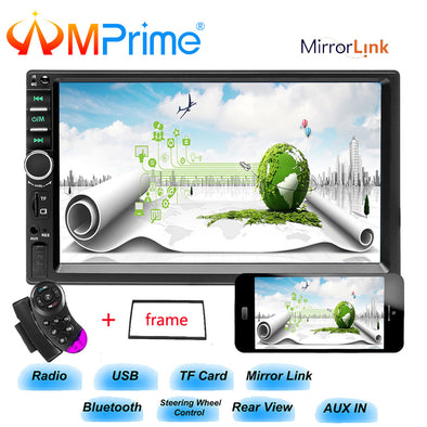 "New AMprime 2 din car radio 7"" HD Player Bluetooth Car Radio - BC&ACI"