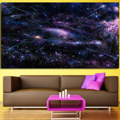 Pretty Abstract Modern Wall Art Canvas Painting Universe Space Star Starry Sky Art Wall - BC&ACI