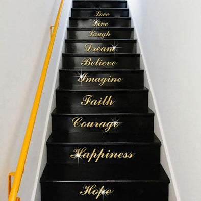 Acrylic Mirror stickers Effect Quote Word Art Stair Wall Decals wall sticker home decor - BC&ACI