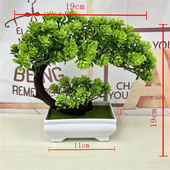 Artificial Plants Bonsai Simulation Plastic Small Tree Pot Plant Potted Ornament - BC&ACI