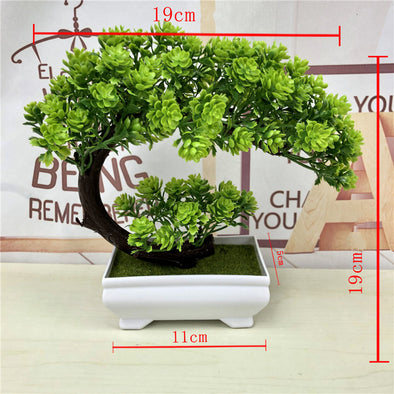 Artificial Plants Bonsai Simulation Plastic Small Tree Pot Plant Potted Ornaments - BC&ACI