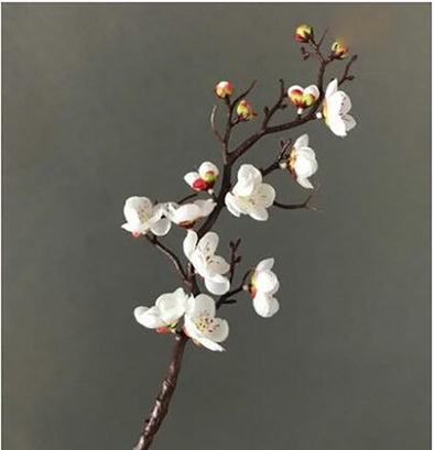 Pretty Artificial flower Cherry Spring Plum Peach Blossom Branch Silk Flower Tree - BC&ACI