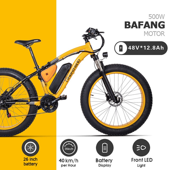 BAFANG 500W beach electric bicycle assisted bicycle 48V17AH electric sand car 26 inch electric bicycle - BC&ACI