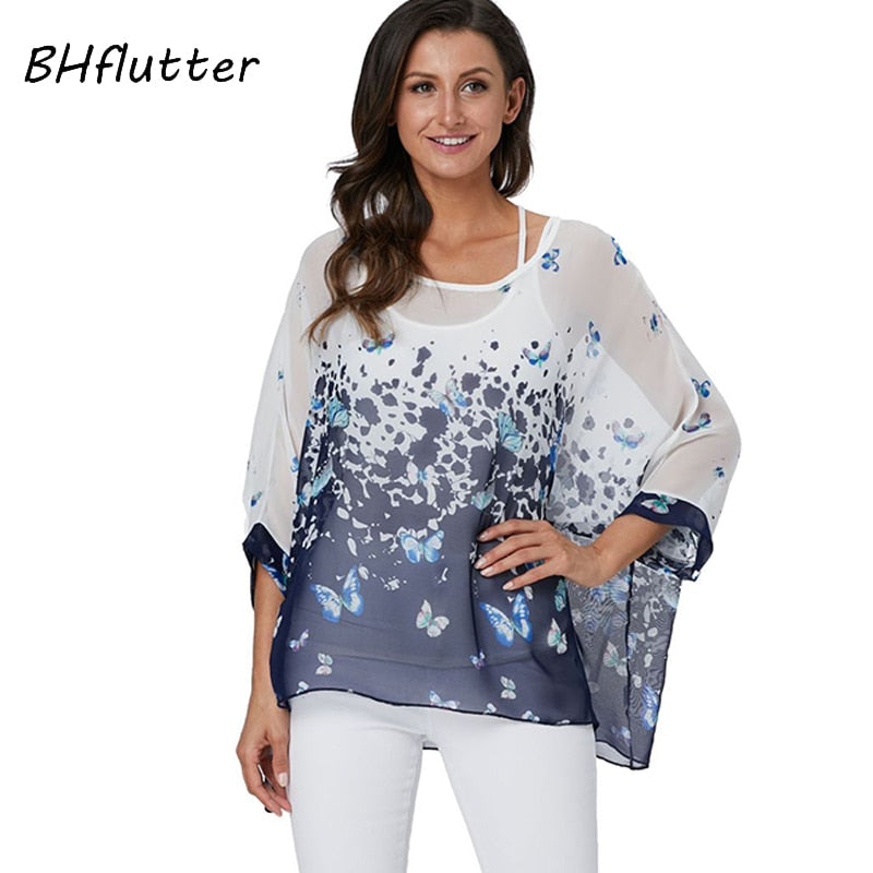 26dbc6d2bf7be6 BHflutter 4XL 5XL 6XL Plus Size Women Blouse 2019 Sexy Off Shoulder ...