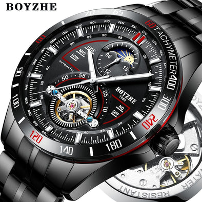 New BOYZHE Men Automatic Mechanical Fashion Top Brand Sport Watches - BC&ACI