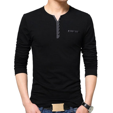 New Men's  T Shirt Long Sleeve Cotton Slim Fit Tops - BC&ACI
