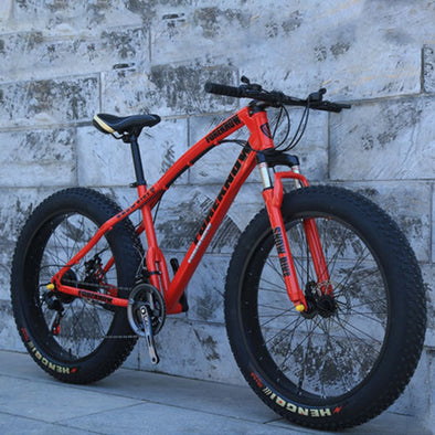 Rugged Beach Snow Mountain Bike Variable Speed 24/26 Inches 21 24 27 Speed for Adults - BC&ACI