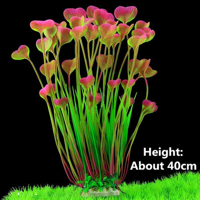 Beautiful Plastic Artificial Aquarium Plants Decoration Submersible Aquatic - BC&ACI