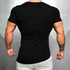 Brand Solid Clothing Gyms t-shirt Mens Fitness Tight t-shirt Cotton - BC&ACI