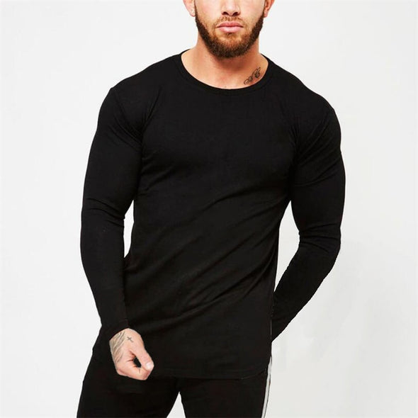 New Brand fashion Mens longsleeve t shirt Slim Fitted - BC&ACI