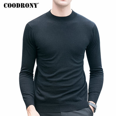 COODRONY Merino Wool Sweater Men Winter Warm Knitted Cashmere Sweaters Brand Casual - BC&ACI