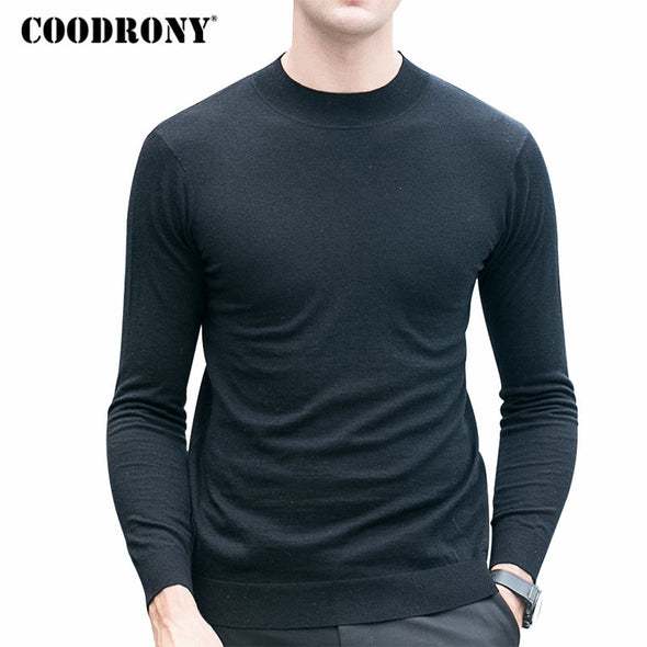 COODRONY Merino Wool Sweater Men Winter Warm Knitted Cashmere Sweaters Brand Casual Turtleneck Pullover Men Plus Size Pull Homme