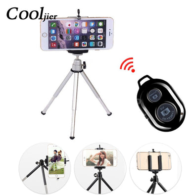 New COOLJIER mini tripod for phone Bluetooth Remote Tripod Portable - BC&ACI