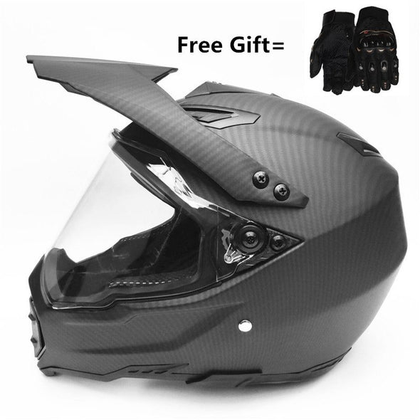 Carbon Fiber new motorcycle helmet mens moto helmet top quality capacete motocross off road motocross helmet DOT