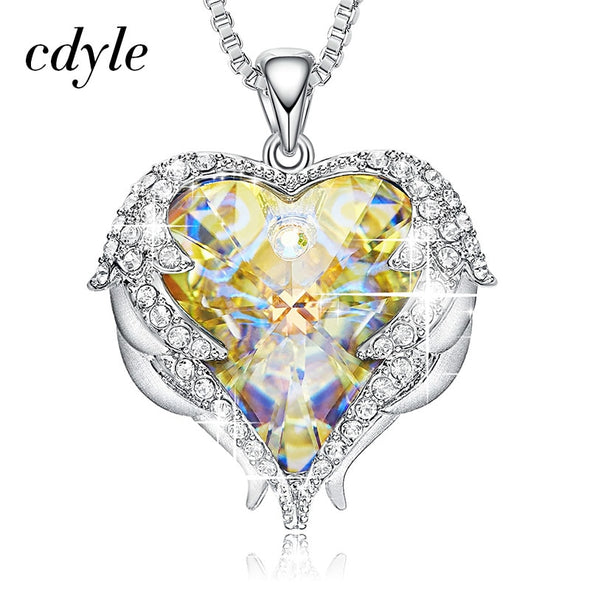 Pretty Cdyle Crystals from Swarovski Necklaces Fashion Jewelry For Women Pendant Blue - BC&ACI
