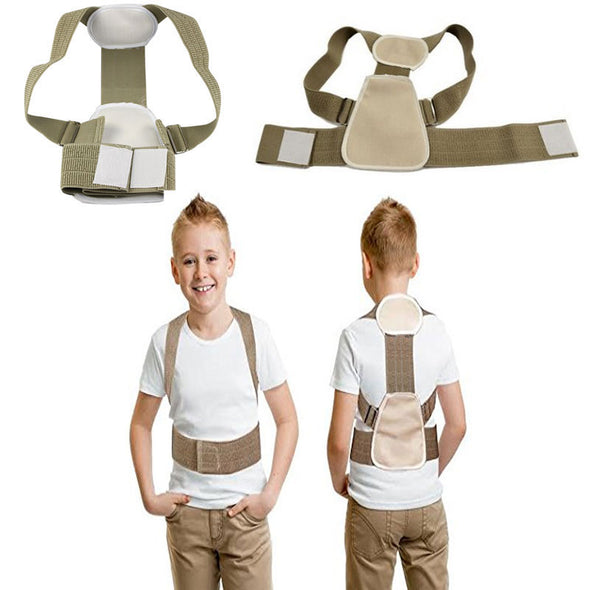 Children Teenage Posture Corrector Slouch Correction Orthosis Back Support Back Posture Correction Flexible Back Belt for Child - BC&ACI