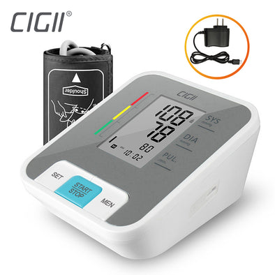 Useful Cigii Home health care Pulse measurement tool Portable LCD digital Upper Arm Blood Pressure Monitor 1 Pcs Tonometer - BC&ACI