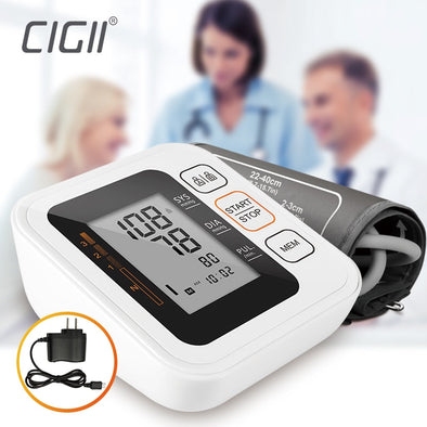 Useful Cigii Portable Digital Upper Arm Blood Pressure Monitor Heartbeat test - BC&ACI