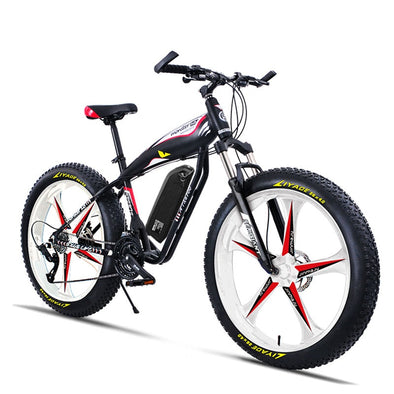 Custom 26inch Ebike electric mountain bicycle fat 4.0 tries snow beach