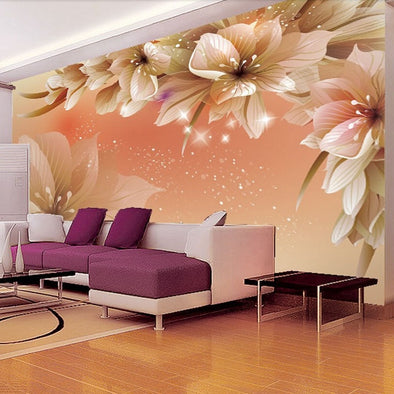 Custom 3D Photo Wallpaper Modern Flower Wall Mural Wall Paper - BC&ACI