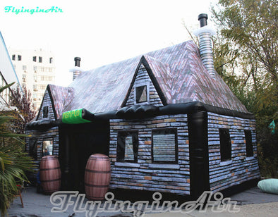 Customized Retro Bar House 8m*4m*5m Inflatable Irish Pub Tent For Wine Tasting Party And Outdoor Event - BC&ACI