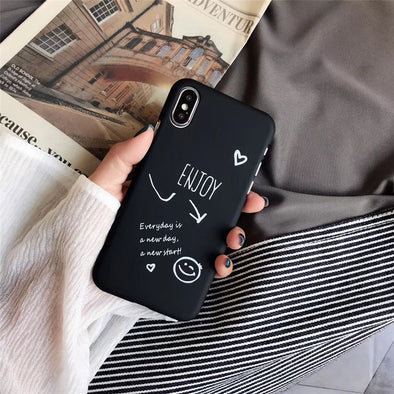 Cute Love Heart Print Back Cover For iPhone X 7 6 6S Plus 5 5S SE Phone Case Hard PC