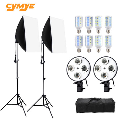 Cymye Photo Studio Kit EC01 8 LED 24w Softbox Photography Kit Camera & Photo Accessories
