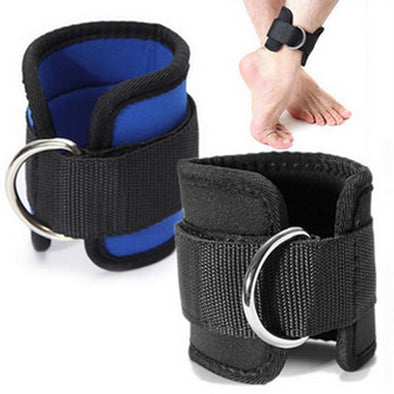 D-Ring Ankle Anchor Strap Belt Leg Strap Lifting Fitness Exercise Band Gym Cable Attachment
